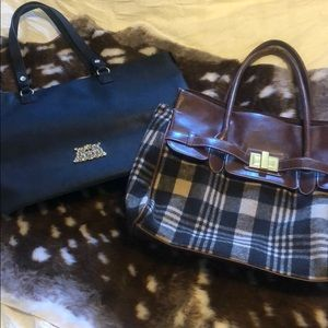 Juicy Couture Tote Bogo Fall Plaid Wool Tote Lot